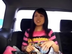 non-professional korean hooker in the car