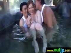 asians gals get team-fucked in public places