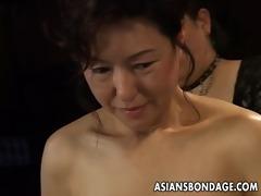 oriental chick in rope thraldom scene