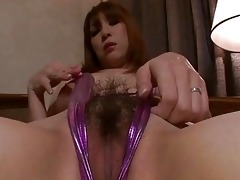 breasty oriental toying her needy love tunnel