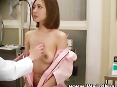 breast exam for this oriental lady from her
