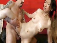 hardcore oriental vagina pounding as males use