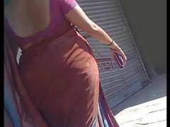 indian aunty - street voyeur - large ass candid -
