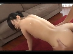 cute asian assjob compilation
