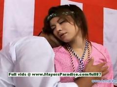 yuzuru sexy hotty teen japanese girl enjoys