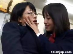 japanese lesbian babes kiss 38