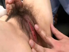 gorgeous breasty japanese milfs pussy creampied
