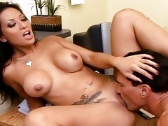 breasty oriental secretary acquire a dick on her