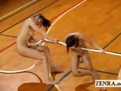 nudist japan athletes play outlandish game of tug