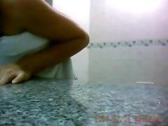 spycam films oriental beauty in shower