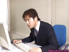 cute oriental secretary screwed part2