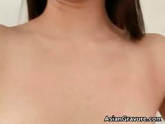hot dark brown oriental babe with hirsute part9