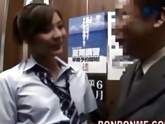 japanese schoolgirl gives fortunate lad a oral