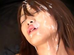 bukkake - cute jav girl splashed!l
