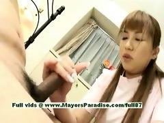 myuu hasegawa hot hotty sexy chinese gal rubs her