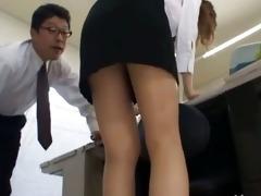 oriental secretary from tokyo with gazoo milk