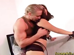 hawt oriental chick sucks and fucks jock part5