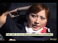 chihiro hara wicked asian moidel is fastened up