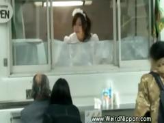 lascivious japanese selling hotdogs