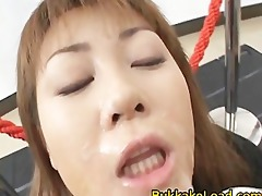 mad oriental model in sexy bukkake act part5