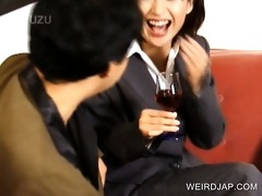 lustful japanese sweetie giving a kiss favourable