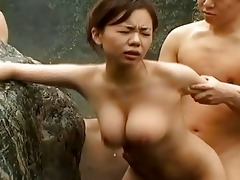 small japanese with large bazookas group-fucked