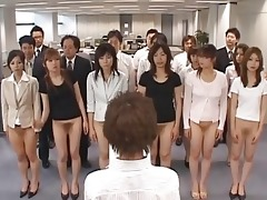 half undressed japanese women showing off their