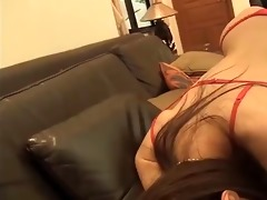 astonishing japanese woman in pants and nylons