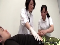 nice-looking japanese doctor and nurse acquire