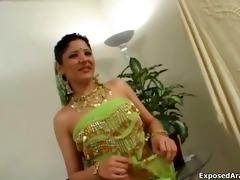 cute arab bellydancing beauty showing her