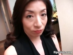 aged asian doxy receives he is soaked curly
