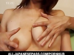 breasty aya kurosaki enjoys her body being oiled