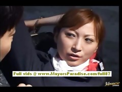 chihiro hara nasty oriental moidel is tied up in