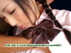 breathtaking japanese model receives teats licked