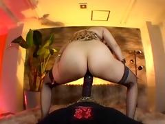 hirsute cowgirl on a big dark cock.