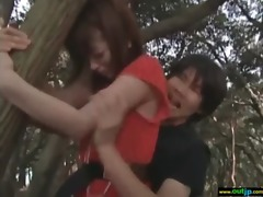 outdoor perverted japanese cutie receive fucked