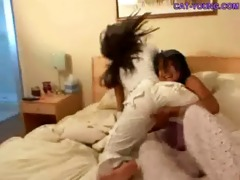 oriental legal age teenager cat fight