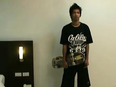 straight skateboarder