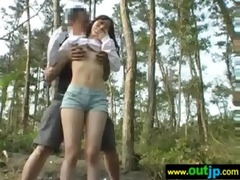 outdoor sexy cute asians receive nailed movie-29