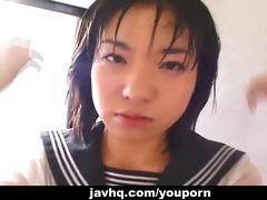 nice-looking japanese schoolgirl cumfaced