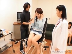 japanese legal age teenager receives snatch toyed