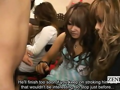 subtitled cfnm japanese gyaru cook jerking with