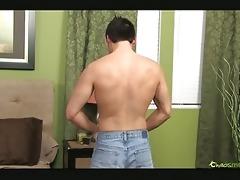 oriental gay fellow watching porn