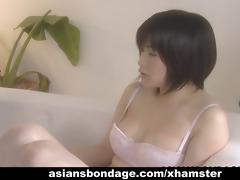 cute japanese lesbian babes have a fun three-some