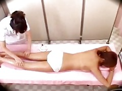 oriental angel massaged with oil getting her