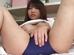 hot japanes chick masturbates her sexy vagina