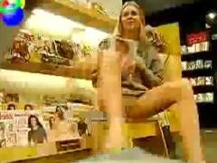 girlfriend upskirt at book store