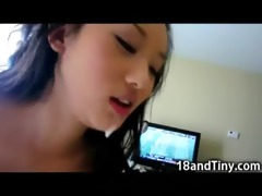 681 lbs asian legal age teenager eats cum!