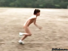 bare athletes doing hot jumping games part0