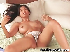 sexy bigtits oriental cutie stuffs her part9